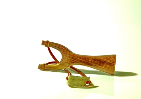 Slingshot is used to shoot. In childhood.
