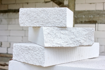 lightweight concrete block  the bricks used in the construction of the new series are popular. Reduce heat resistant, lightweight, strong, easy construction. Stock Photo - 20780715