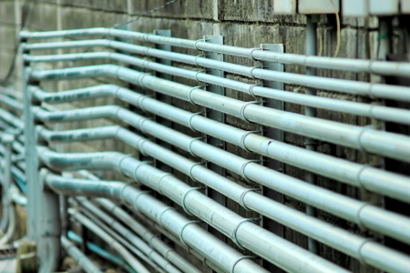 Small pipelines. Are used as filling. Horizontal nested. Stock Photo - 22551939