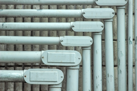 Small pipelines. Are used as filling. Horizontal nested. Stock Photo - 22551985