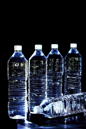 A large bottle of pure drinking water in no danger sterilized ultra-violet light. Stock Photo - 23424050