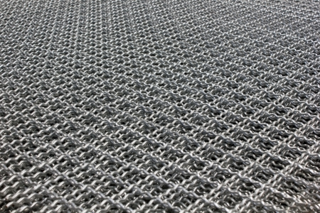 netting: Metal is used to fabricate thin knit a square. Protection of animals used for leak Stock Photo