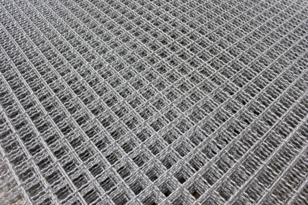 meshed: Metal is used to fabricate thin knit a square. Protection of animals used for leak Stock Photo