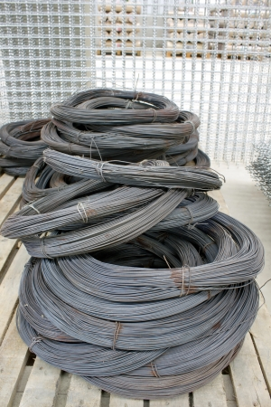 Steel tie wire used in construction of all kinds. Stock Photo - 24611237