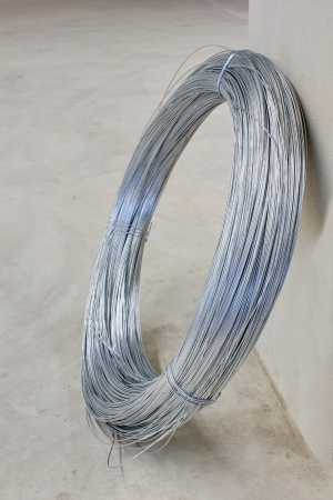 Steel tie wire used in construction of all kinds. photo