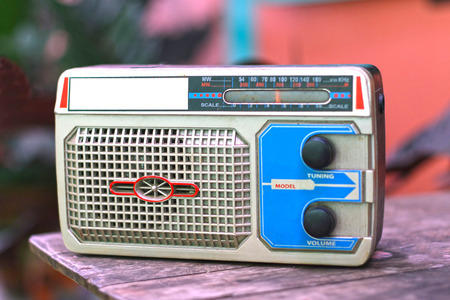 decades: Old transistor radio became popular in the early decades ago in Am