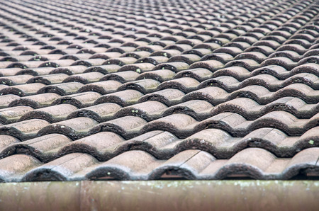 roof Tiles The beautiful pattern repetition Stock Photo