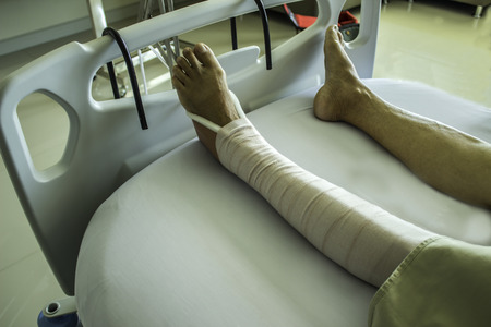 clutter: Anchor leg bones broken bones back into place and clutter Stock Photo