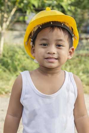 would: The ambition of the children who see their parents doing construction work would therefore bullpen Stock Photo