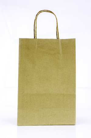 paper bags: Paper bags are made from recycled paper Stock Photo