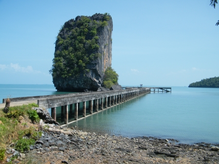Pier at Ao Talo Wao Tarutao  photo