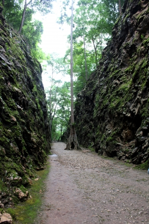 hellfire pass at Kanchanaburi Thailand photo