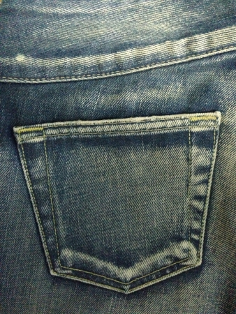 traditional textured:  The pocket jean
