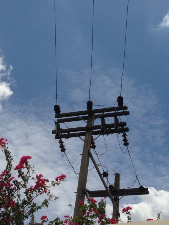 power cables: electrical  with power line cables