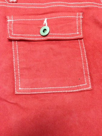 jeans fabric: The pocket red jean