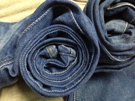 Roll jeans  Stock Photo