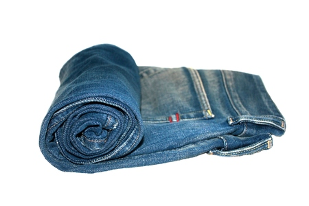 Roll blue jeans photo