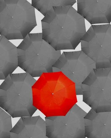 differ: umbrella Stock Photo