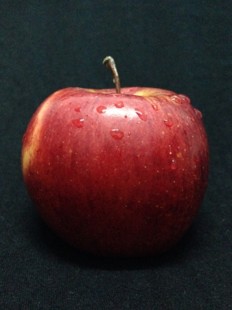 Apple on black  Stock Photo