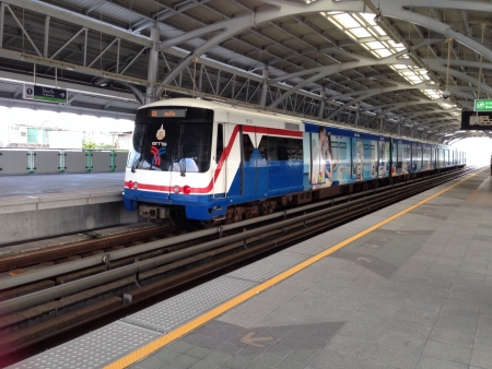 Thailand BTS sky train  Stock Photo
