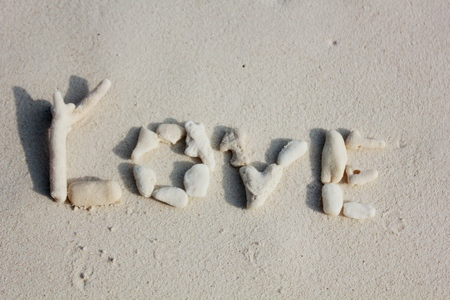 love on sand texture photo