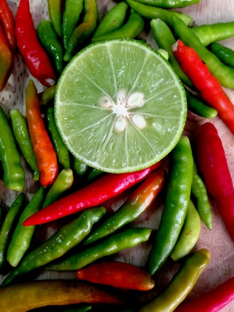 Hot chillies with lemon