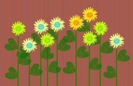 Card sunflower photo