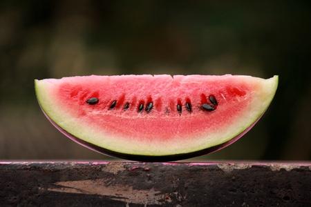 Watermelon slice Stock Photo