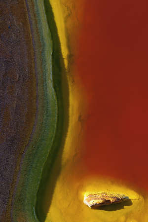 With the submerged rocks of the Rio Tinto can make endless abstract compositions photo