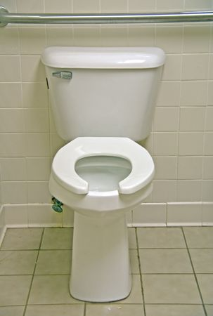water closet: A water closet that is necessary in all abodes.  Stock Photo