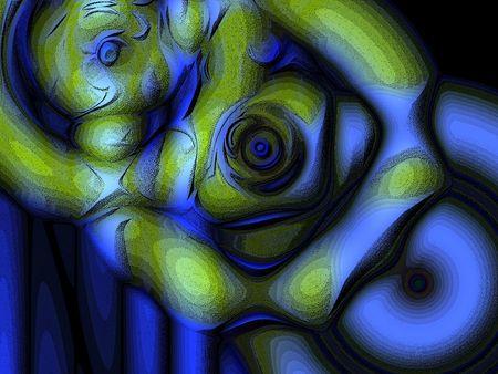 An illustration. A version of fractal designs.