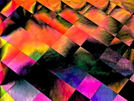 A one of a kind fractal design in a patchwork type of design.  Banco de Imagens