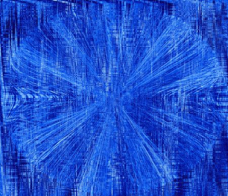 textil: Computer generated abstract in blues. Stock Photo