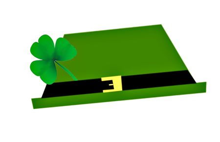 buckles: Computer generated hat with a shamrock for st. Patricks Day.