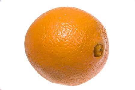 A very orange navel orange, fruit and juicie.