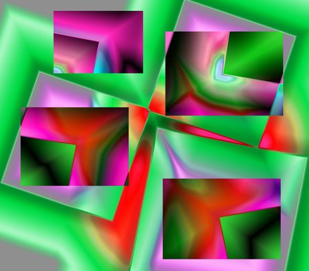 A  generated  fractal abstract illustration. Bright colors and shapes.  Stock Photo