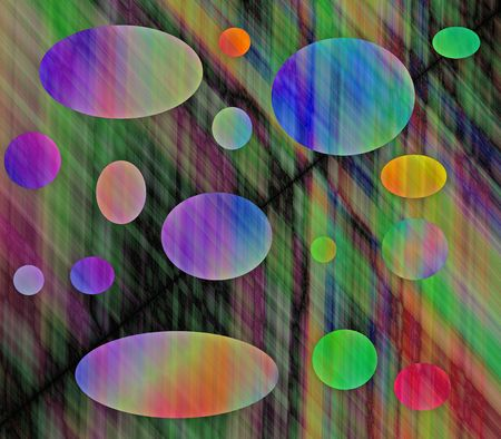 A  generated abstract illustraion of colorful cirsles.  Stock Photo