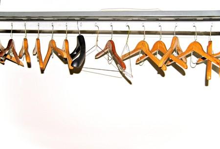 coat rack: A coat rack in a public facility.