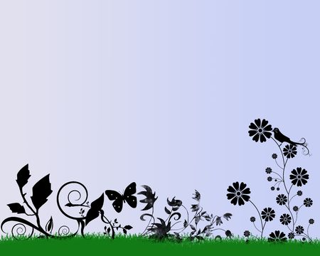 A computer generated illustration of signs of spring. Stock Illustration - 4353397