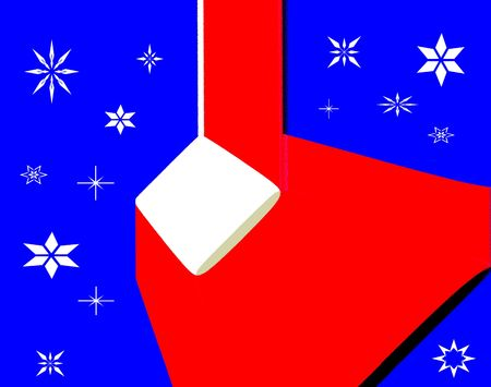 A computer generated illustration of red, white and blue with assortment of stars. Stock Illustration - 4684212