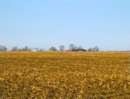 A view of a mid American farm field. Reklamní fotografie