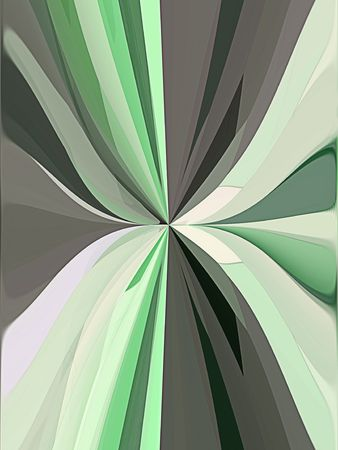 pleated: A computer generated backgournd abstract in a pleated like form in shades of green.