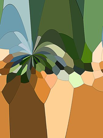 A computer generated background abstract in the likeness of a palm tree with sandy color and grassy color.
