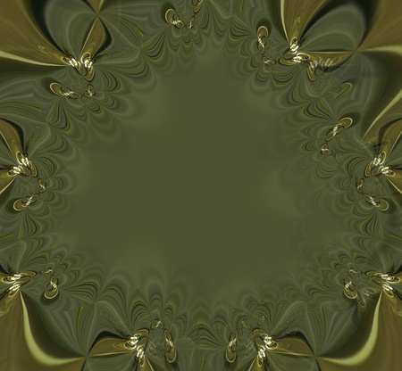 A computer generated background abstract in the shape of a lacy frame. Stock Photo - 8346658