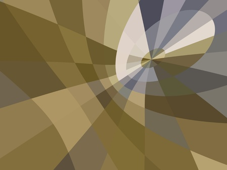 A unique digital abstract of shapes, angles and patterns in shades of browns and grays.