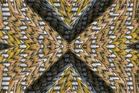 fissures: A digitally generated image forming fissures in depth.
