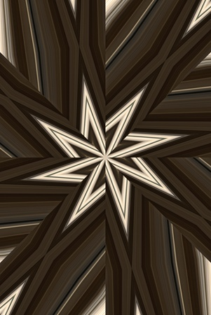 pointed: A digitally generated photo of a hose rack processed to an eight pointed start abstract.  Stock Photo