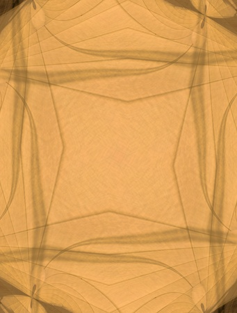 A digitally generated abstract in orange gauze like textures with patterns and designs.  Stock Photo