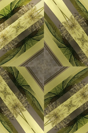 A digitally generated image with palm leaves and others in the pattern. Stock Photo - 12216945