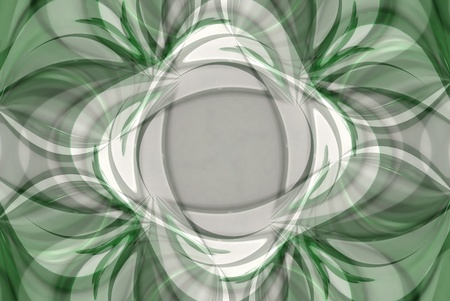 A digitally generated image using a set of algorithms on an original photo to create lines and patterns in a spring green vision. Stock Photo - 12942734